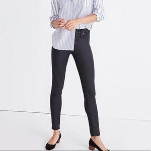 Madewell High-Rise Skinny Coated Black Jeans 27